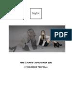 FW Sponsorship Proposal 2013