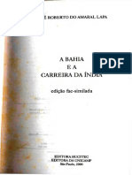 A Bahia e a Carreira Da Índia