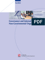 Governance and Internal Control in Non-Governmental Organisations - HONGKONG