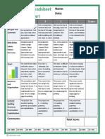 Spreadsheet Rubric