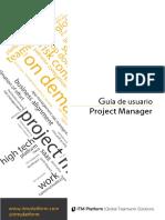 ES GUI 01 Project Manager Guía Usuario ITM Platform