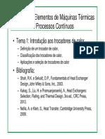 Introdução Trocadores Calor SEM0396