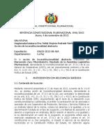 SENTENCIA CONSTITUCIONAL PLURINACIONAL 1946/2013