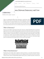 Democratic vs. Non Democratic System