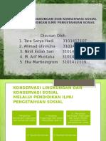 Konservasi Lingkungan Dan Konservasi Sosial