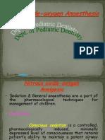 Nitrous Oxide Anaesthesia Pedo