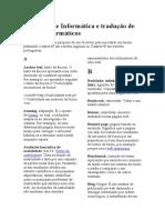 Glossário de Informática e Tradução de Termos Informáticos