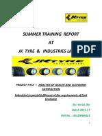 summer internship report on jk tyre
