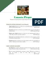 Lista de Precios Canasta Pirque 2016