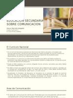 Curriculo Educación Secundaria Area II Comunicacion