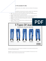Jeans Fitting for MEN