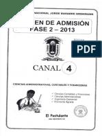 Examen Unjbg 2013 Fase 2 Canal 4