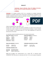BOLILLA Nº 7 Carbonatos Nitratos Boratos