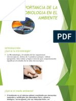 Importancia de La Microbiologia en El Ambiente