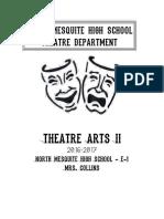 theatre arts ii syllabus
