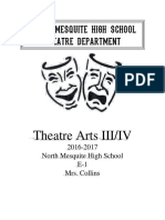 theatre arts iii-iv syllabus