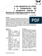 Estimación de Capsaicina en Chiles Habaneros y Comparación Del Grado de Pungencia Usando La Técnica de Voltamperometría Linea1