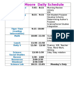 our daily schedule weebly