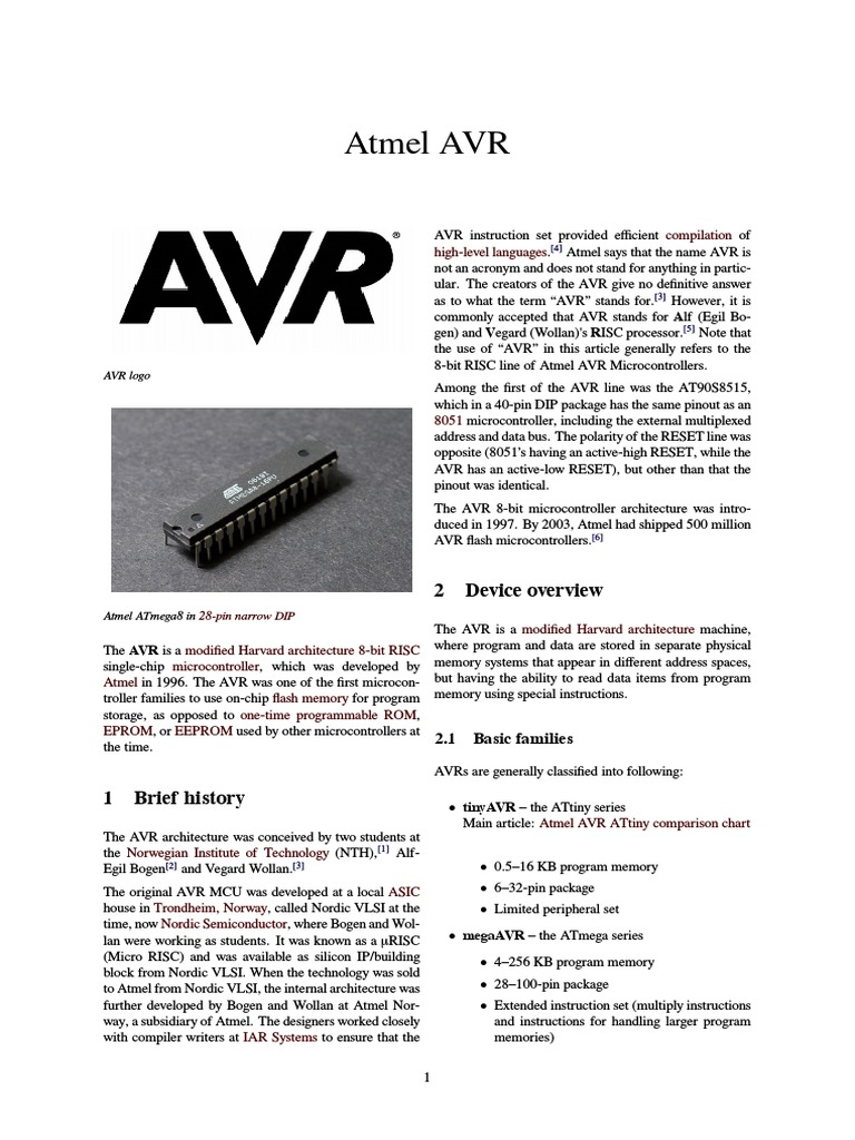 Atmel Avr Digital Electronics Office Equipment
