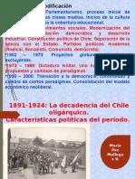 Parlamentarismo 1891 - 1925 María Paz Mallegas V.