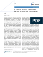Zombie projects, translational research, and the real secret of the inside of the cell