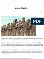 US Army Cooks Account Books - News Agency of Nigeria