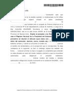 Testimonio Ley 22172 de Reinscripcion de Embargo Al Reg Automotor