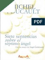 Foucault Michel - Siete Sentencias Sobre El Septimo Angel.pdf