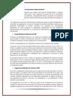 Organismos Financieros Internacionales y de Fomento Al Comercio