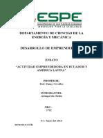 Ensayo_ActEmpr_Ecuador y América Latina