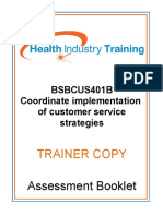 BSBCUS401B Coordinate Implementation of Customer Service Strategies TC