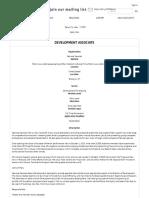 National Sawdust Development Associate