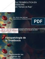 Terapia Trombolitica en Emergencias - Dra Vega