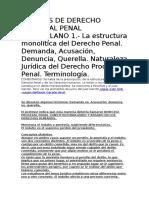 Apuntes de Derecho Procesal Penal Venezolano 1