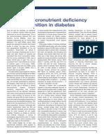 Potential Micronutrient Deficiency Lacks Recognition in Diabetes