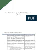 Procedimientos Básicos en La Toma de Muestras 2014