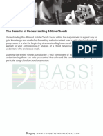 Understanding 4 note chords