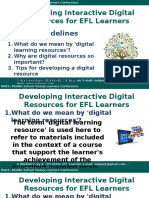 Developing Interactive Content for EFL Learners