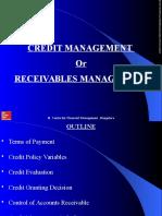 Credit or Receivables Management
