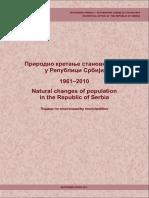 Prirodno Kretanje Stanovnistva 1961-2010