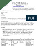 modern world civilizations disclosure document