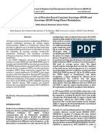 Comparative Analysis of Wavelet Based Constant Envelope OFDM and Constant Envelope OFDM Using Phase Modulation