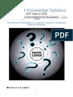nist tok - class 2018 student handbook