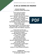 poesía en la sierra
