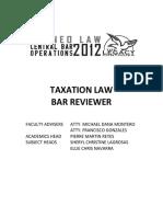 Taxation Law Bar Reviewer