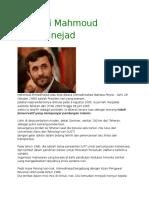 Biografi Mahmoud Ahmadinejad