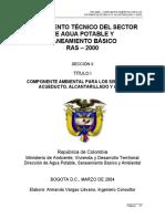 Reglamento Técnico Del Sector de Agua Potable y Saneamiento Básico RAS 2000