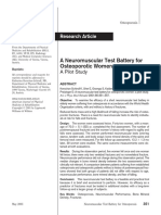 # a Neuromuscular Test Battery for Osteoporotic