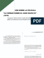 """Documentación sobre """"La verdad sobre el caso Savolta"""" (1979) de Antonio Drove"""