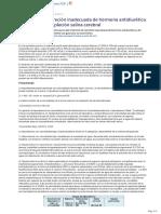 Sindrome de Secrecion Inadecuada de Hormona Antidiuretica y Sindrome de Deplecion Salina Cerebral